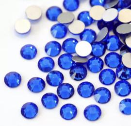 Crystal Rhinestone 2088-SS 34 flatback (7mm) Sapphire , 10 stuks