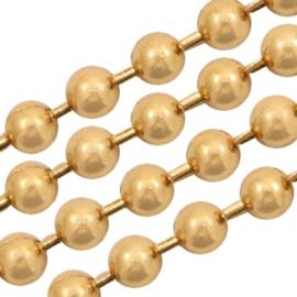 Basic Quality metaal ball chain 1.2mm Goud, per meter
