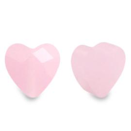 Fashion Facet kralen hart Pink alabaster