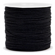 Macramé satijndraad 0.8mm Black (5 meter)