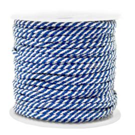 Maritiem koord 2mm Blue-white, 2 meter