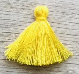 Kwastje basic 2cm Yellow