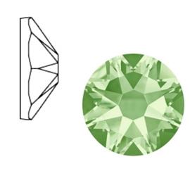 Swarovski Elements 2088-SS 34 flatback (7mm) Chrysolite green, 2 stuks