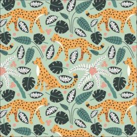 Cadeaupapier 200m - Jungle Panter Mint 30x200 cm