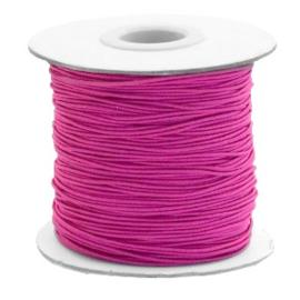 Gekleurd elastisch draad 0,8mm Cherry pink, 5 meter