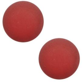 12 mm Classic cabochon Super Polaris matt Warm red