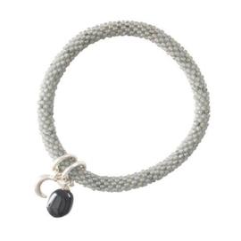 Jacky Multi Color Zwarte Onyx Maan Zilver Armband