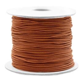 Gekleurd elastisch draad 0,8mm Copper brown, 5 meter