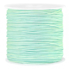 Macramé draad 0.8mm Soft turquoise green (10 meter)
