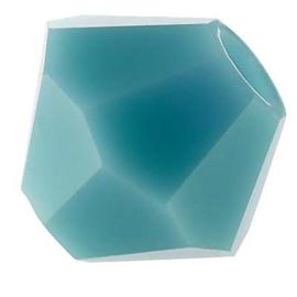 Preciosa Rondelle Bead/Bicone, 6 mm, turquoise, 2 stuks