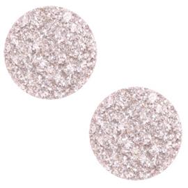 12 mm platte cabochon Polaris Elements Goldstein Delicacy pink