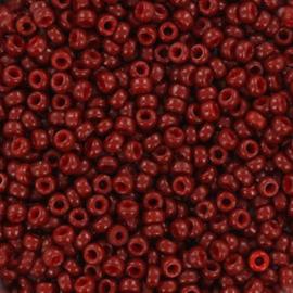 Miyuki rocailles 11/0 Duracoat opaque maroon red, 5 gram