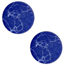 Cabochon basic plat stone look 12mm Blue-white