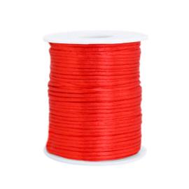 Satijn draad 1.5mm Flame scarlet red, 4 meter