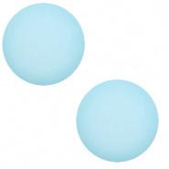 12 mm Classic cabochon Super Polaris matt Sky blue