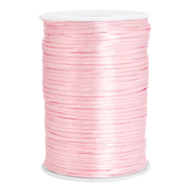 Satijn draad 2.5mm Light rose, 2 meter