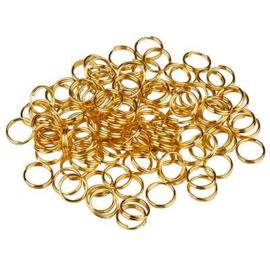 Split ringen 7mm Goud 120 stuks