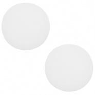 12 mm Classic cabochon Super Polaris matt Daisy white