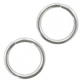 Stainless steel onderdelen buigringen 4mm Antiek zilver 200 stuks