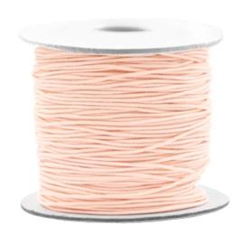 Gekleurd elastisch draad 0,8mm Light peach, 5 meter