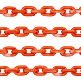 Acrylic chain 15mm Red, 1 meter