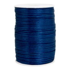 Satijn draad 2.5mm Dark jeans blue, 2 meter