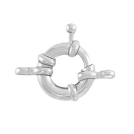 Onderdelen DQ metaal boeislot 13mm met oogjes Antiek zilver  (nikkelvrij)