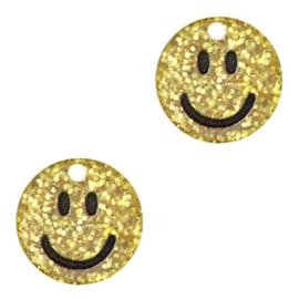 Plexx bedel smiley Gold glitter, 2 stuks