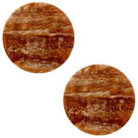 7 mm platte cabochon Polaris Elements Stardust Light chocolate brown, 2 stuks
