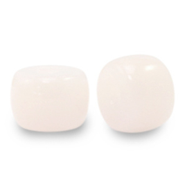 8 mm rondellen glaskralen Light vintage pink, 10 stuks