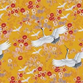 Coated Cadeaupapier 2m - Kimono ochre 30x200 cm