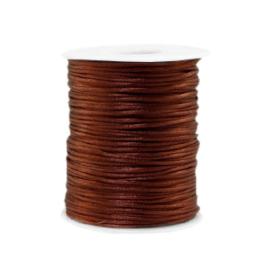 Satijn draad 1.5mm Brown, 4 meter
