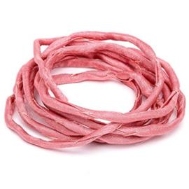 Griffin habotai foulard cord Dark pink, per 50cm