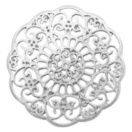 Bedels DQ metaal tussenstuk Bohemian Antiek zilver (nikkelvrij)