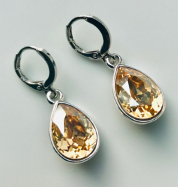 Oorbellen Swarovski Elements Crystal Golden Shadow