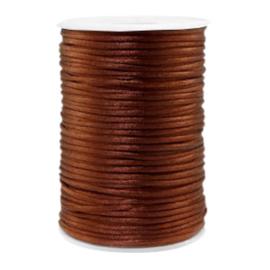 Satijn draad 2.5mm  Satijn draad 2.5mm Brown, 4 meter