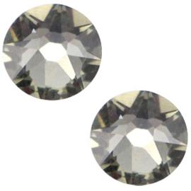 Swarovski Elements 2088-SS 34 flatback, 2 stuks (7mm) Xirius Black diamond