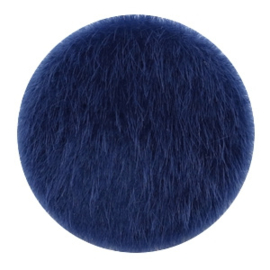 Faux fur cabochons Dark blue 35mm
