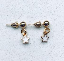 oorstekertje Little White Star Gold