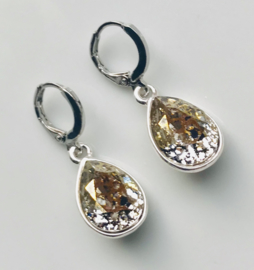 Oorbellen Swarovski Elements Crystal Gold Patina