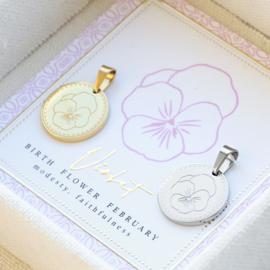 Set Birth flower incl. sieraden doosje (Goud en Zilver)