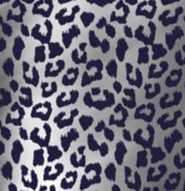 Inpakpapier Cheetah Blue - 2 meter - metallic papier