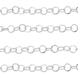 Roestvrij stalen (RVS) Stainless steel onderdelen jasseron Zilver, 1 meter