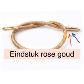 Eindstuk Rose Goud voor 3mm, per 2 stuks
