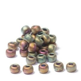 Miyuki rocailles 6/0 Metallic Khaki Iris Matte, 5 gram