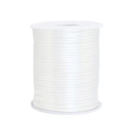 Satijn draad 1.5mm Ivory white, 2 meter