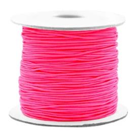 Gekleurd elastisch draad 0,8mm Fluor pink, 5 meter