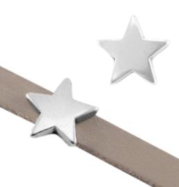 DQ metaal schuiver ster Ø5.2x2.2mm Zilver 2 stuks (nikkelvrij)