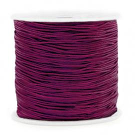 Macramé draad 0.8mm Aubergine purple (10 meter)