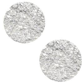 12 mm platte cabochon Polaris Elements Goldstein White